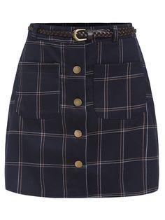 Single Breasted Plaid Skirt 15.79