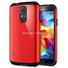 Newest High Quality SGP SPIGEN Slim Armor Case Cover for Samsung Galaxy S5 I9600 Luxury Phone Bag Hard Back Cover Wholesale $8.78