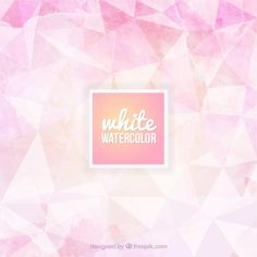 Watercolor triangles background Free Vector