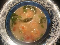 Treat yourself to Thai Shrimp Soup made with either fresh or canned coconut milk. Pour the hot and spicy broth over cooked spinach for an incredible phase 1 meal. - Contributed by South Beach Diet member Pam S.