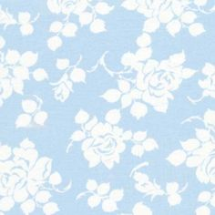 Tanya Whelan, Delilah Rosie in Blue, Last 53 Inches Flower Patterns, Quilt Patterns, Blue Bunting, Free Spirit Fabrics, Country Blue, Cream Flowers, Shades Of White, Flower Backgrounds, Modern Fabric