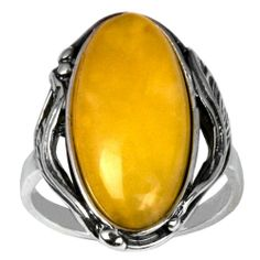 Baltic Butterscotch Amber Sterling Silver Oval Classic Ring Cabochon Size 10x20mm Amber by Graciana,http://www.amazon.com/dp/B006OO1D34/ref=cm_sw_r_pi_dp_enh6sb14NVJM4HN2