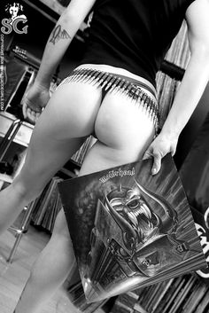 Girls with Vinyl Records - #Motorhead #Orgasmatron