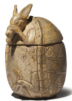 Maya Two-Part Effigy Vessel of an Armadillo<br>Early Classic, ca. A.D. 250-450 | lot | Sotheby's