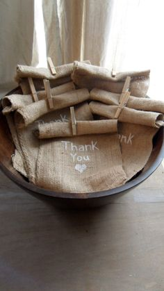For MY Painted Burlap Gift Bags :: Great alternate/extra closure option (they will still have the drawstring)!