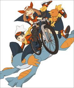 May, Brendan, Swampert, and Torchic