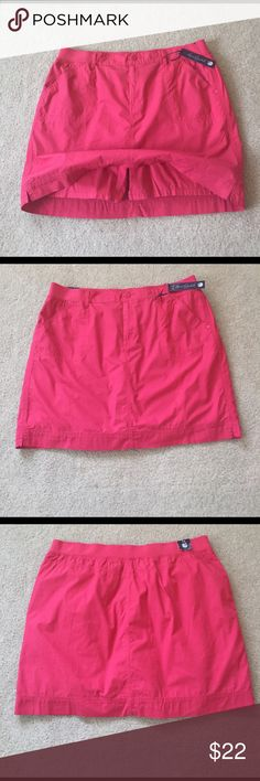 "NWT 2in1 Hello Summer So Pretty Mini Skort New and so pretty girly Skort. No one will see your undies in this cute mini. Stretch waist band for extra comfort. 19"" waist to bottom. 18"" waist flat. Color is coral and it's gorgeous! Gloria Vanderbilt Shorts Skorts"