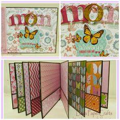Luisa PaperCrafts: Mini Album sencillo para Mamá. Tutorial en mi blog.