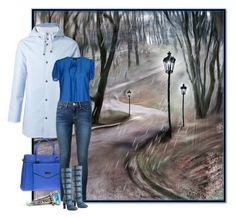 """""""It's a rainy day"""" by budding-designer ❤ liked on Polyvore featuring Stutterheim, Armani Jeans, Frame Denim, Tom Ford and Lagos"""