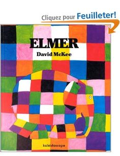 This is a read-aloud of the children's book Elmer, written by David McKee. In this story, Elmer the patchwork elephant makes himself gray with berry juice; Library Lessons, Art Lessons, Children's Library, Online Library, Bible Lessons, Good Books, Books To Read, Elmer The Elephants, Album Jeunesse