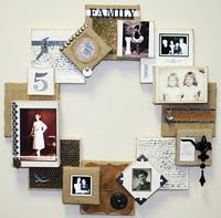 Family Heirloom Wreath featuring Canvas Corp what a neat idea