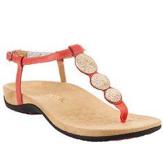 3a2c0be71fb Vionic Orthotic T-strap Sandals w  Ankle Strap - Lizbeth
