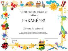 Certificado de Formatura Infantil para Imprimir