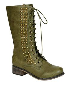 MEET YOUR BOOT MATCH---LOVE THESE!!!   Loving this Military Green Seattle Boot on #zulily! #zulilyfinds