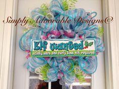 Christmas Deco Mesh Wreath Hoilday WreathMesh by SimplyAdoorable12, $70.00