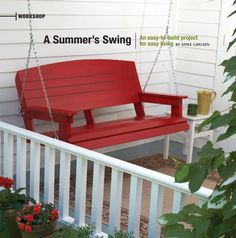 build a wooden porch swing with these free plans - Front Porch Swing