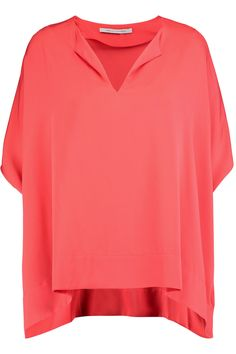 Shop on-sale Diane von Furstenberg Kora stretch-silk top. Browse other  discount 6f5605302