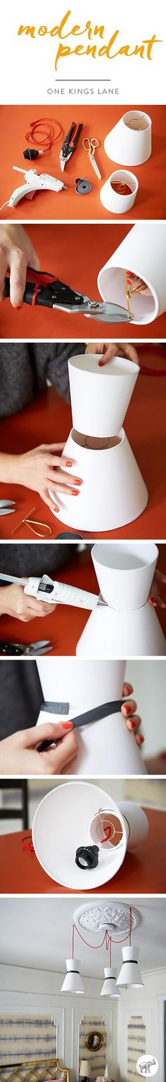 The easiest DIY pendent lamp you could ever make!!