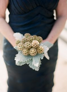 Elegant Modern Mansion Wedding from Tanja Lippert Photography Floral Wedding, Wedding Bouquets, Wedding Flowers, Bridesmaid Bouquets, Dusty Miller Bouquet, Scabiosa Pods, White Flower Arrangements, Navy Blue Bridesmaid Dresses, Modern Mansion