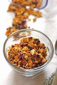 Cranberry Almond Granola | It Bakes Me Happy