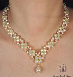 V-shaped pearl with green N898 by Fleur-de-Irk.deviantart.com on @deviantART
