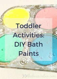 DIY Toddler Bath Paints