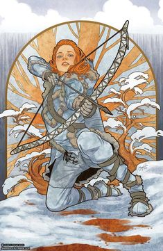 These Game of Thrones illustrations by Missy Pena are inspired by Czech Art Nouveau artist Alphonse Mucha's Four Seasons. Dessin Game Of Thrones, Arte Game Of Thrones, Art And Illustration, Alphonse Mucha, Fanart, Game Art, Game Of Thrones Illustrations, Game Of Thones, Art Nouveau Poster