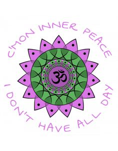 C'mon inner peace Inner Peace, Yoga, Outdoor Blanket, Clip Art, Cards, Design, Map, Playing Cards, Yoga Sayings