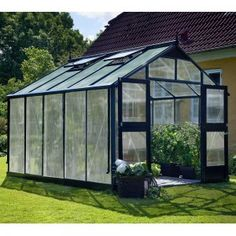 Serre de jardin aluminium et polycarbonate Premium – Juliana
