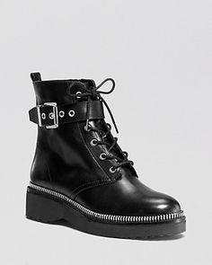 MICHAEL Michael Kors Lace Up Combat Boots - Vivia   Bloomingdale's
