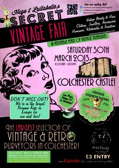 Lesley's Girls- Vintage Lifestyle and Fashion Blog: The BIG one #vintage #colchester #castle #fair #colchestercastle #retro #eastersaturday #whatson #essex #england