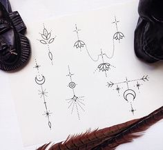 Sashatattoing Best Picture For Tattoo Pattern hand For Your Taste You are looking for something, and it is going to tell you exactly what you are looking for, and you didn't find that picture. Boho Tattoos, Symbol Tattoos, Arrow Tattoos, Mini Tattoos, Cute Tattoos, Body Art Tattoos, Tattoos For Guys, Poke Tattoo, Sternum Tattoo