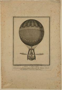 Globo aerostatico di diametro pal.40. Romani inalzato in Roma dal Sigr. Vincenzo Lunardi nellAnfiteatro Correa il di 8 luglio 1788