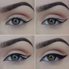 Cat eyeliner @evatornado #tutorial #stepbystep #mycollection #evatornadoblog #makeupideas #bestlooks