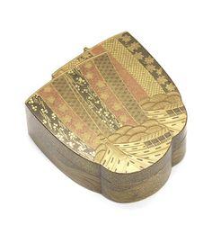 Bonhams: A gold lacquer kobako (small box) and cover Meiji Period