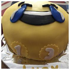 Emoji cake I made.  Chocolate sandwich.  Chocolate Fudge Butter icing.  Fondant decorations.