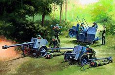 рисунок Немецкая артиллерия