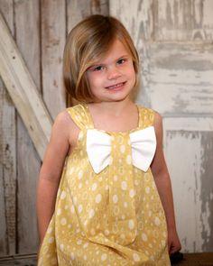 Aubrey - Bow Dress Sewing Pattern. Girl's Dress Pattern. Toddler Pattern. PDF Pattern. Sizes 12m-8 included. $7.50, via Etsy.