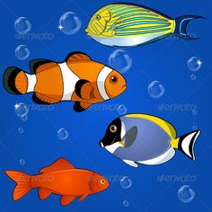 Tropical Fish Set - Animals Characters