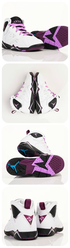Sure to make the boys jealous, this Jordan Retro 7 'Fuchsia Glow' drops tomorrow in girls' sizes.