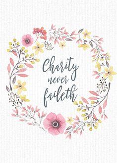 Mimi Lee Printables & More: Charity Never Faileth-5x7 freebies