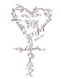 Image result for tattoo hope faith love celtic