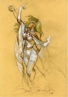 Simone Bianchi White Queen commission Comic Art
