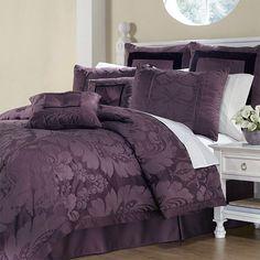 "72//79/""Purple Rose Bathroom Polyester Fabric SHOWER CURTAIN MAT 12HOOKS 3086"