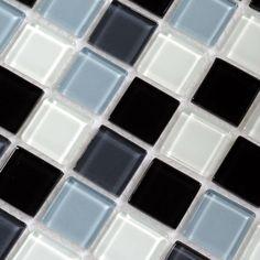 glass tile sheet, black, white, gray✅
