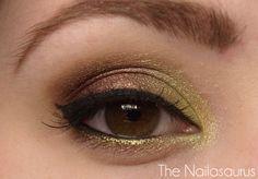 gold/bronze make up