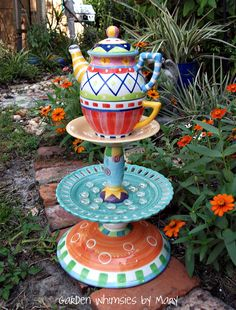 whimsical art | This whimsy by Mary brings me pure delight!! I love the colors and ...