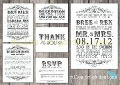 DIY Printable Wedding Invitation Rustic The by milestogodesigns