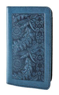 Leather Smartphone Wallet Case | Dandelion Dragonfly | Oberon Design