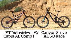Canyon Strive vs YT Capra AL 1 bike test   MBR
